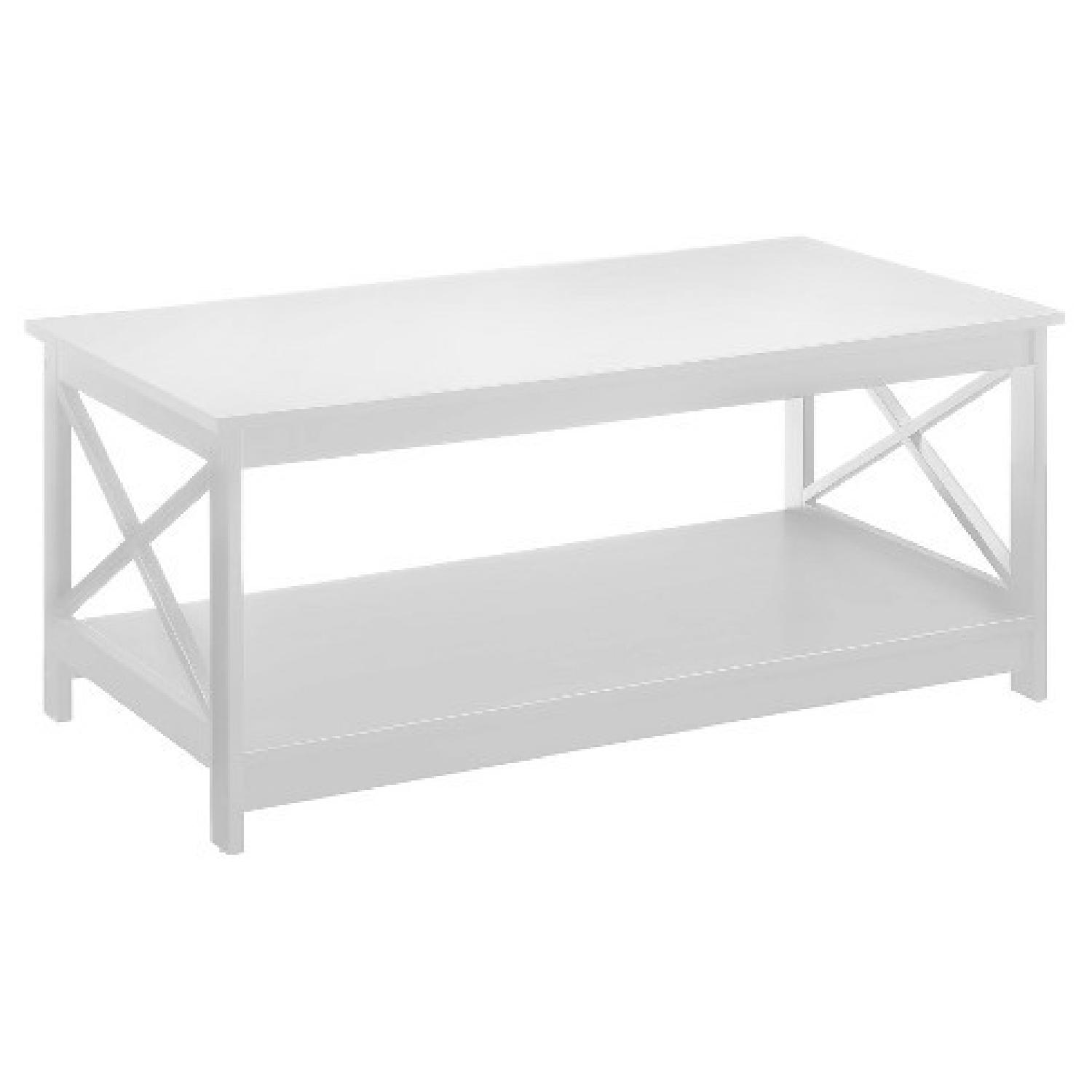 Target White Oxford Coffee Table