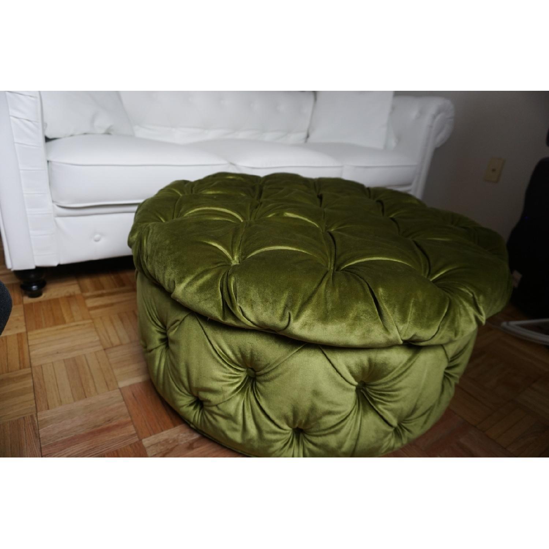 Cool Plum Bow Ava Large Olive Green Storage Ottoman Aptdeco Short Links Chair Design For Home Short Linksinfo