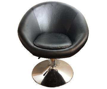Adjustable Height Leather Seat Chair