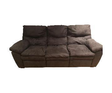 Bob's Grey Reclining Sofa