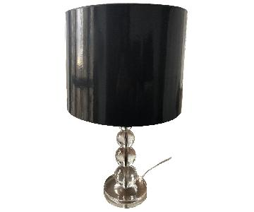 Pottery barn Stacked Crystal Table Lamp
