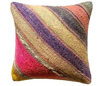Revived Vintage Kilim Throw Pillow