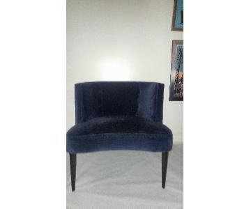 Room & Board Blue Velvet Chloe Chairs