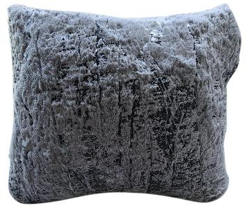 Grey Silver Decorative Pillow