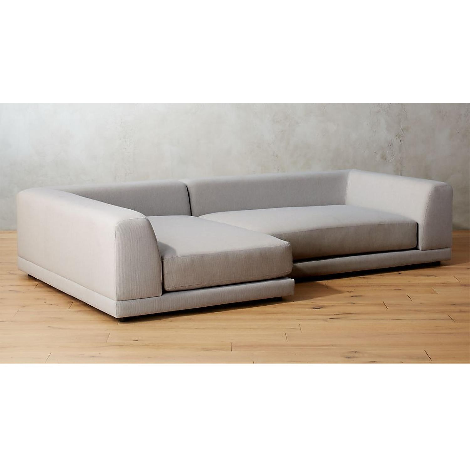 CB2 Right Arm Uno 2-Piece Sectional Sofa - image-5