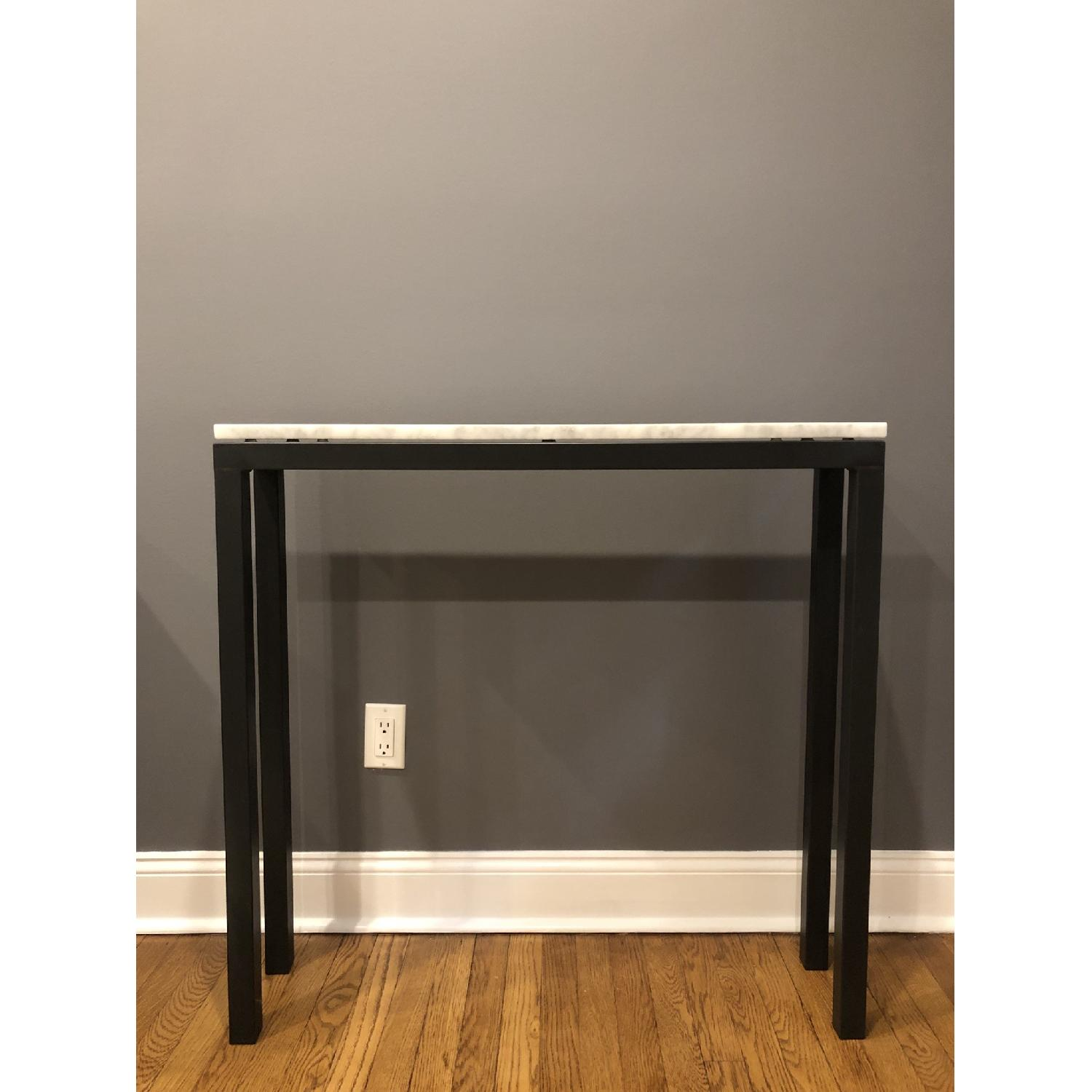 Room & Board Marble Top Console Table - image-1