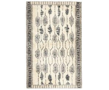 West Elm Royal Grid Shag Rug
