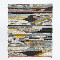 West Elm Multi Pixel Woven Wool Rug