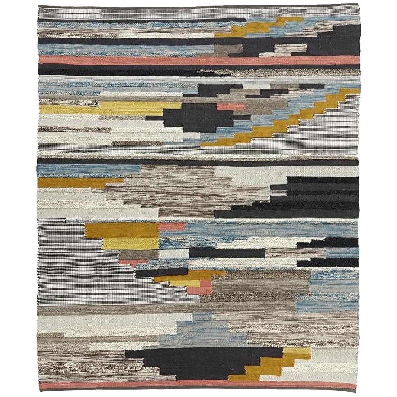 West Elm Multi Pixel Woven Wool Rug
