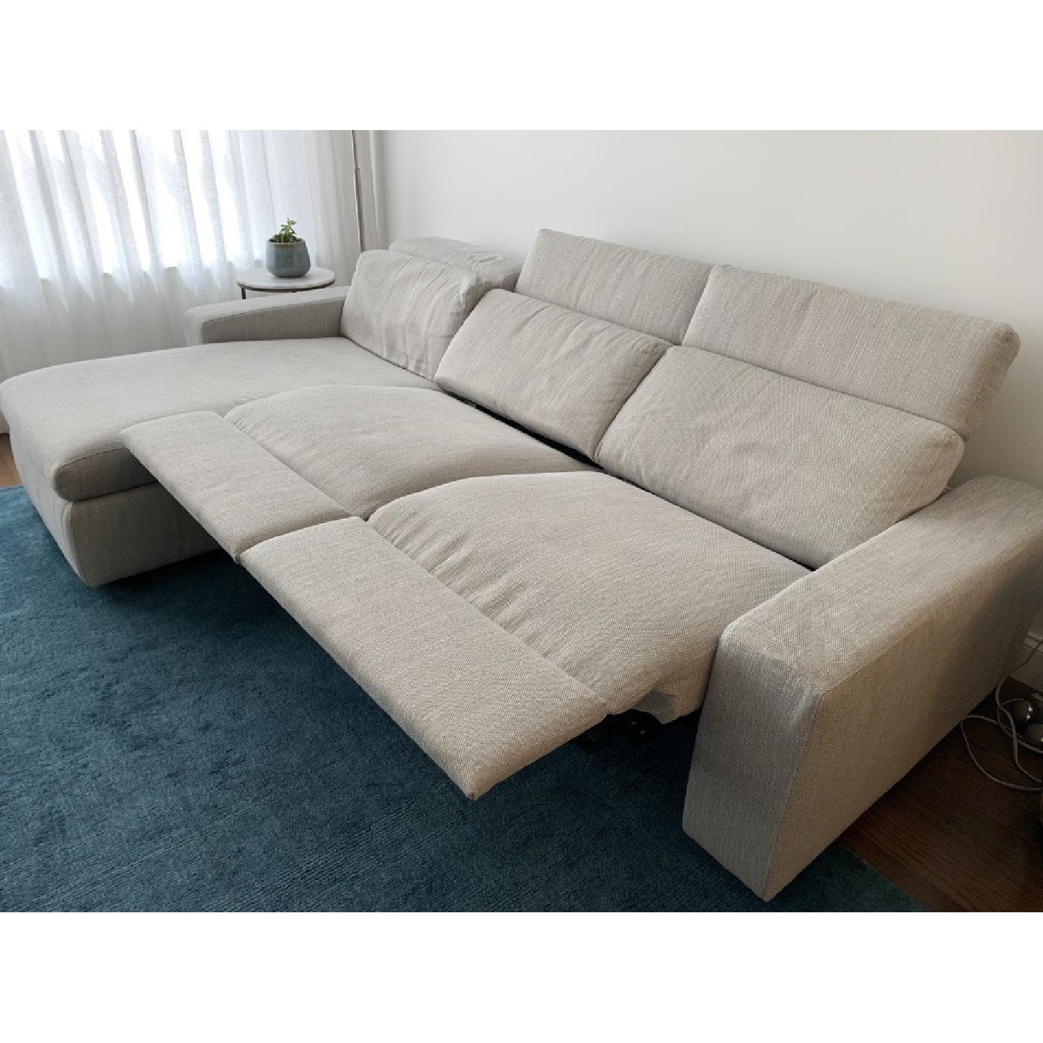 West Elm Enzo Electric Reclining 3 Sectional Sofa W Chaise