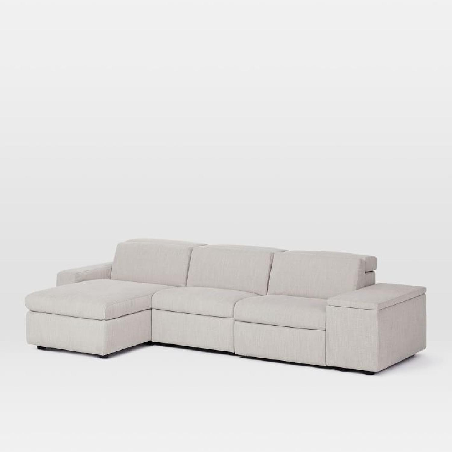 Excellent West Elm Enzo Electric Reclining 3 Sectional Sofa W Chaise Pabps2019 Chair Design Images Pabps2019Com