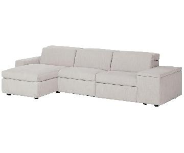 West Elm Enzo Electric Reclining 3 Sectional Sofa w/ Chaise