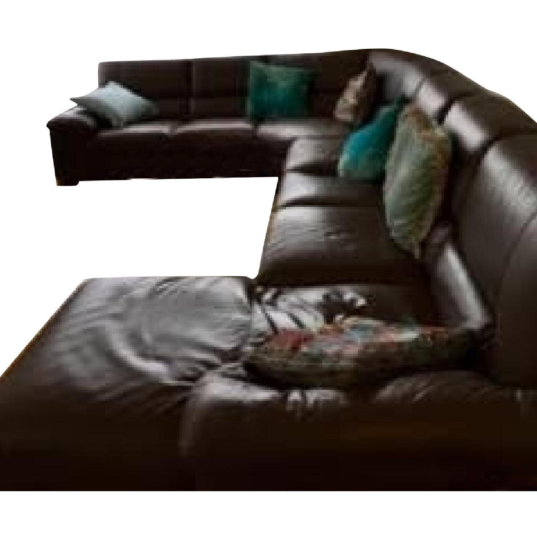 Italsofa Italian Leather Sectional Sofa - AptDeco