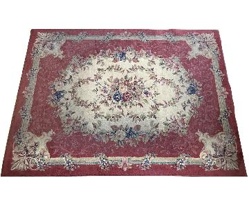 Grand Legacy Cameo Rose Burgundy Area Rug