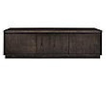 Room & Board Ash w/ Charcoal Stain 3 Door Media Cabinet