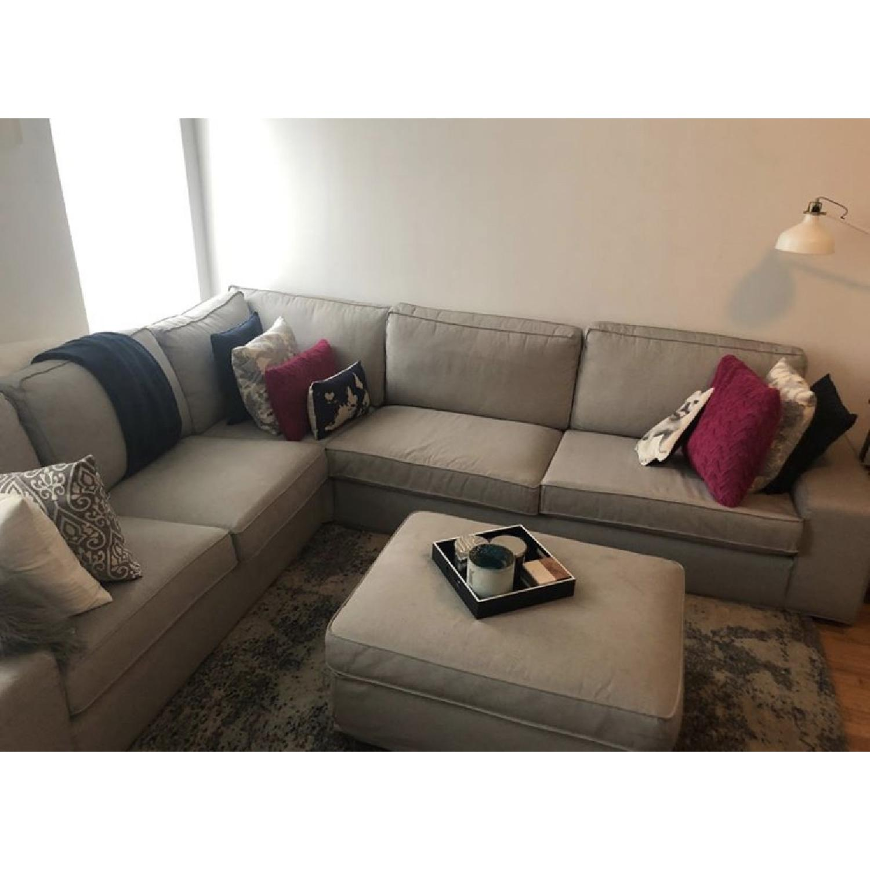 Ikea Kivic 5 Seat Sectional Sofa - AptDeco