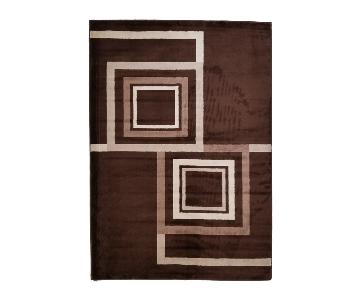 Homedora Brown Geometric Area Rug