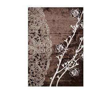 Homedora Floral Brown Area Rug