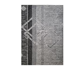 Homedora Geometric Area Rug in Grey
