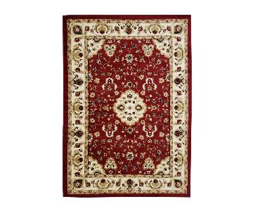 Homedora Traditional Area Rug in Red