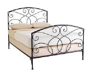 Pier 1 Queen Rod Iron Headboard & Footboard
