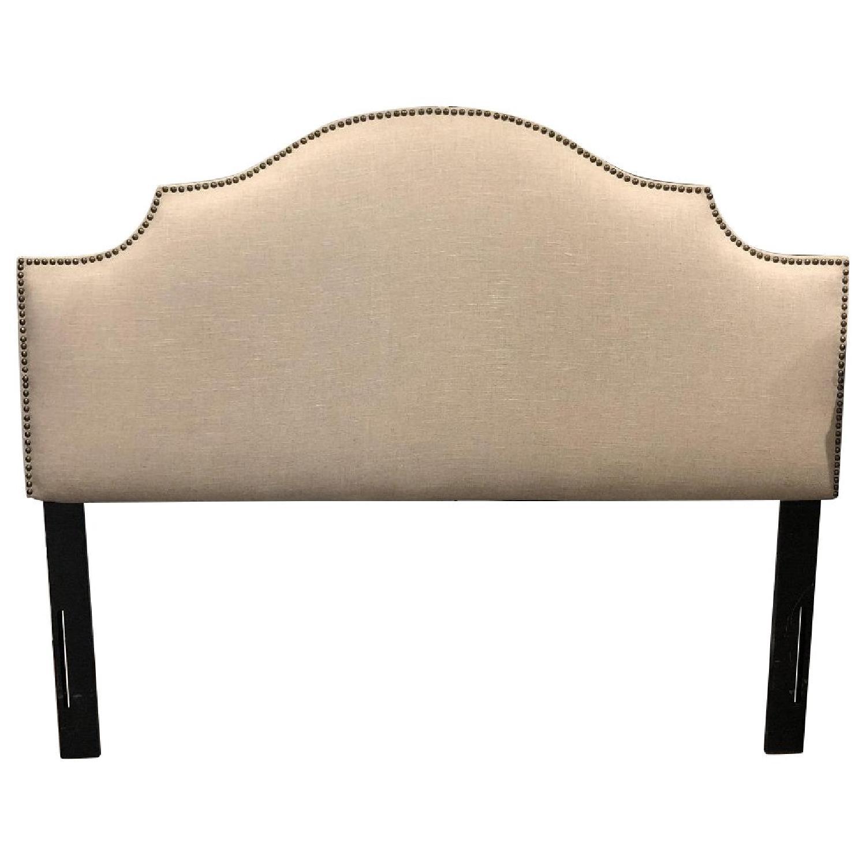 Skyline Upholstered & Nailhead Studded Queen Headboard