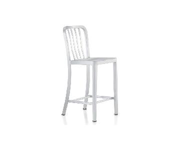 Crate & Barrel Delta Aluminum Bar Stools