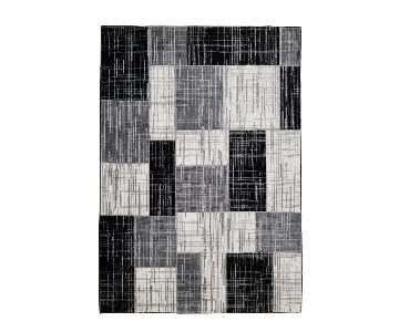 Homedora Modern Geometric Area Rug in Black