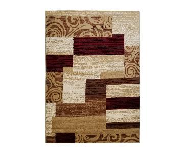 Homedora Modern Decorative Area Rug in Brown