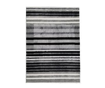 Homedora Black and White Striped Area Rug