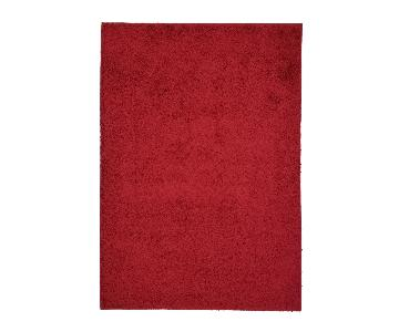 Homedora Super Soft Shaggy Area Rug in Red