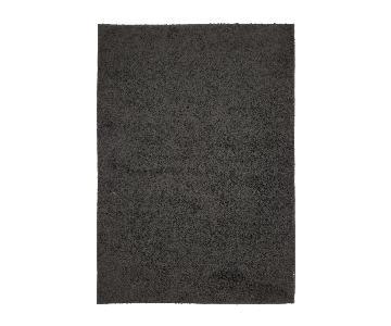 Homedora Black Shaggy Area Rug