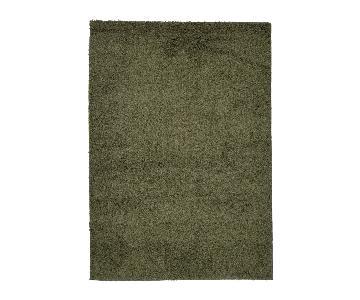 Homedora Green Shaggy Area Rug