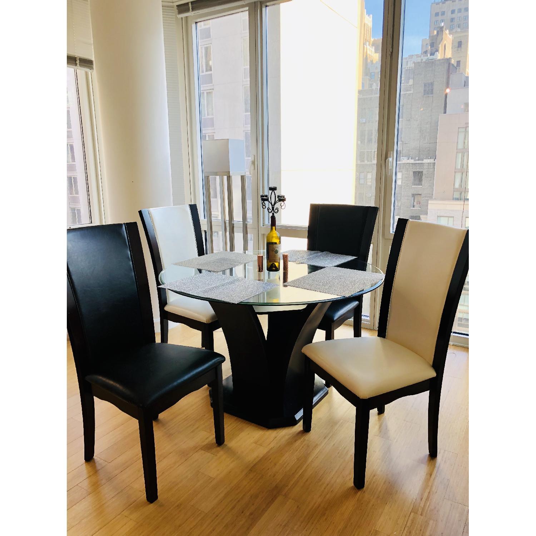 Raymour & Flanigan Venice 5-Piece Glass Dining Set-2