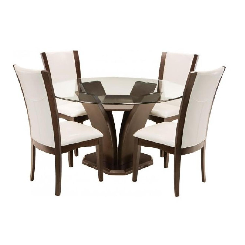 Raymour & Flanigan Venice 5-Piece Glass Dining Set