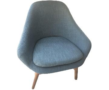 West Elm Modern Blue Accent Chair
