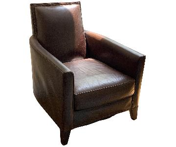 Crate & Barrel Leather Arm Chair