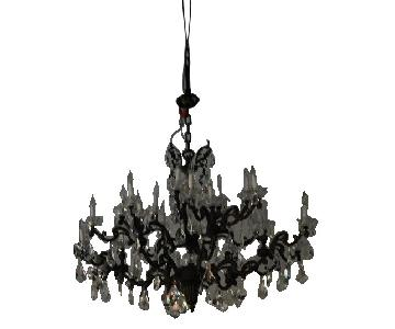 Crystal & Iron Chandelier