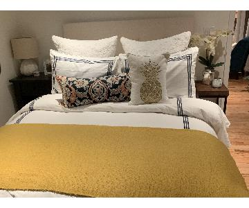 Beige Tufted Queen Headboard