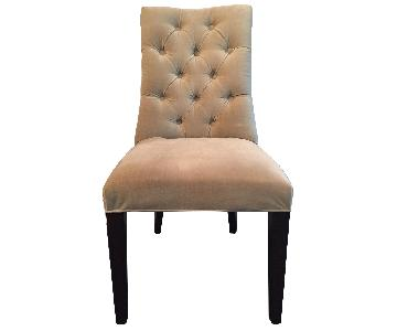 Restoration Hardware Martine Velvet Tufted Dining Chairs