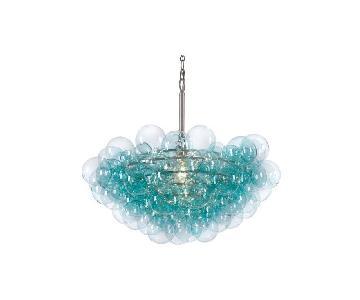 One Kings Lane Aqua Bubbles Glass Chandelier