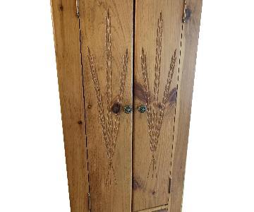 Vintage Tall Oak Cabinet