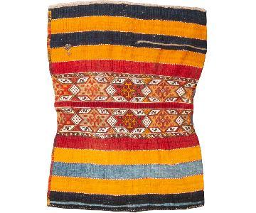 Traditional Colorful Striped Geometric Wool Kilim Rug