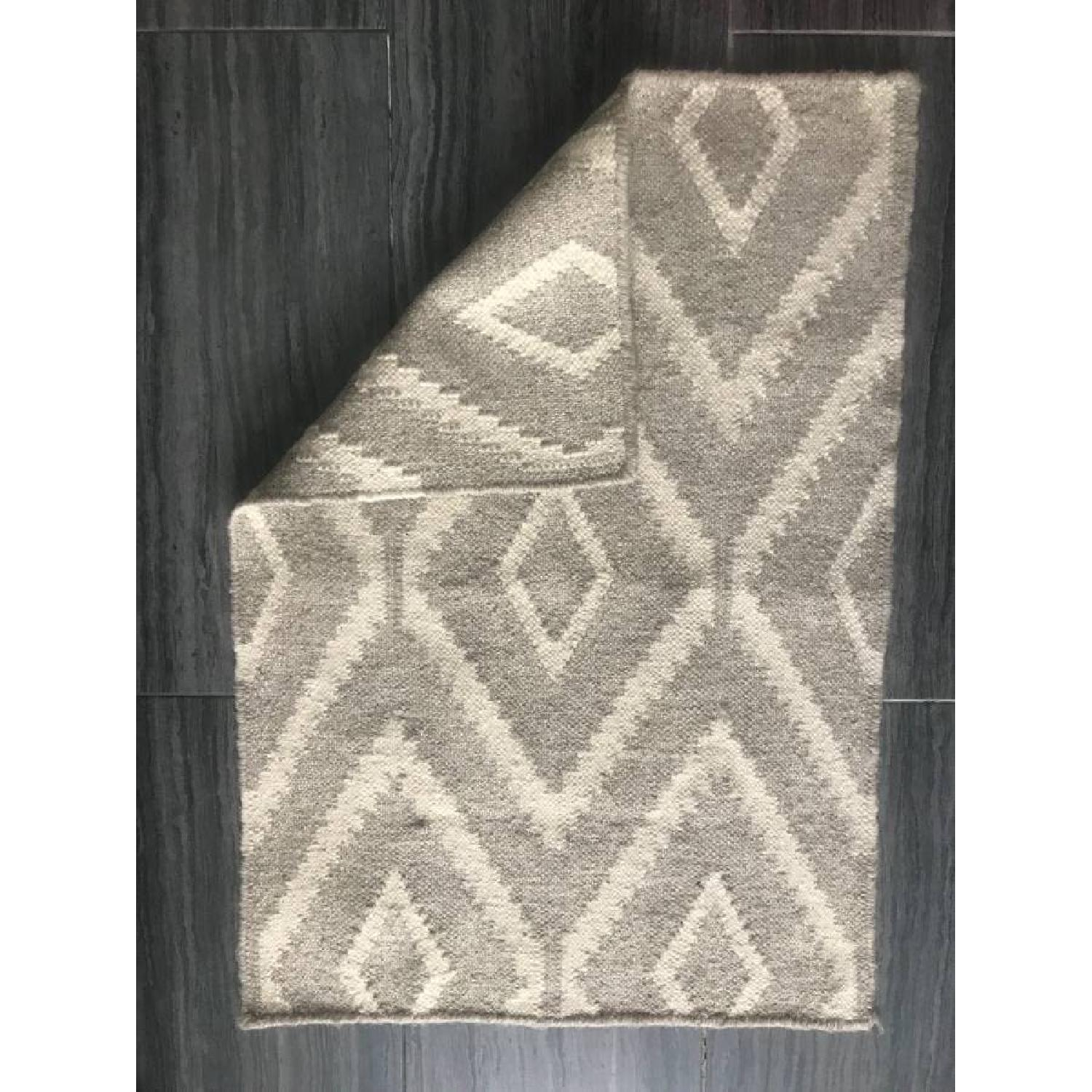 West Elm Kite Wool Kilim Rug-0