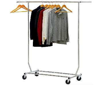 Supreme Commercial Grade Chrome Clothing Garment Rack