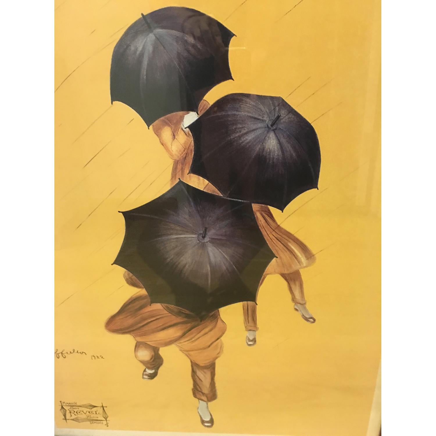 Vintage 1922 by Leonetto Cappiello Framed Parapluie-Revel - image-2