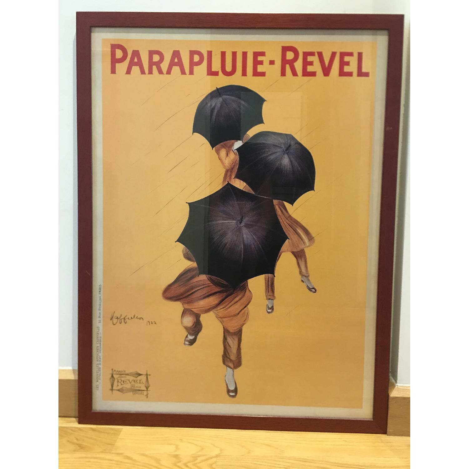 Vintage 1922 by Leonetto Cappiello Framed Parapluie-Revel - image-4