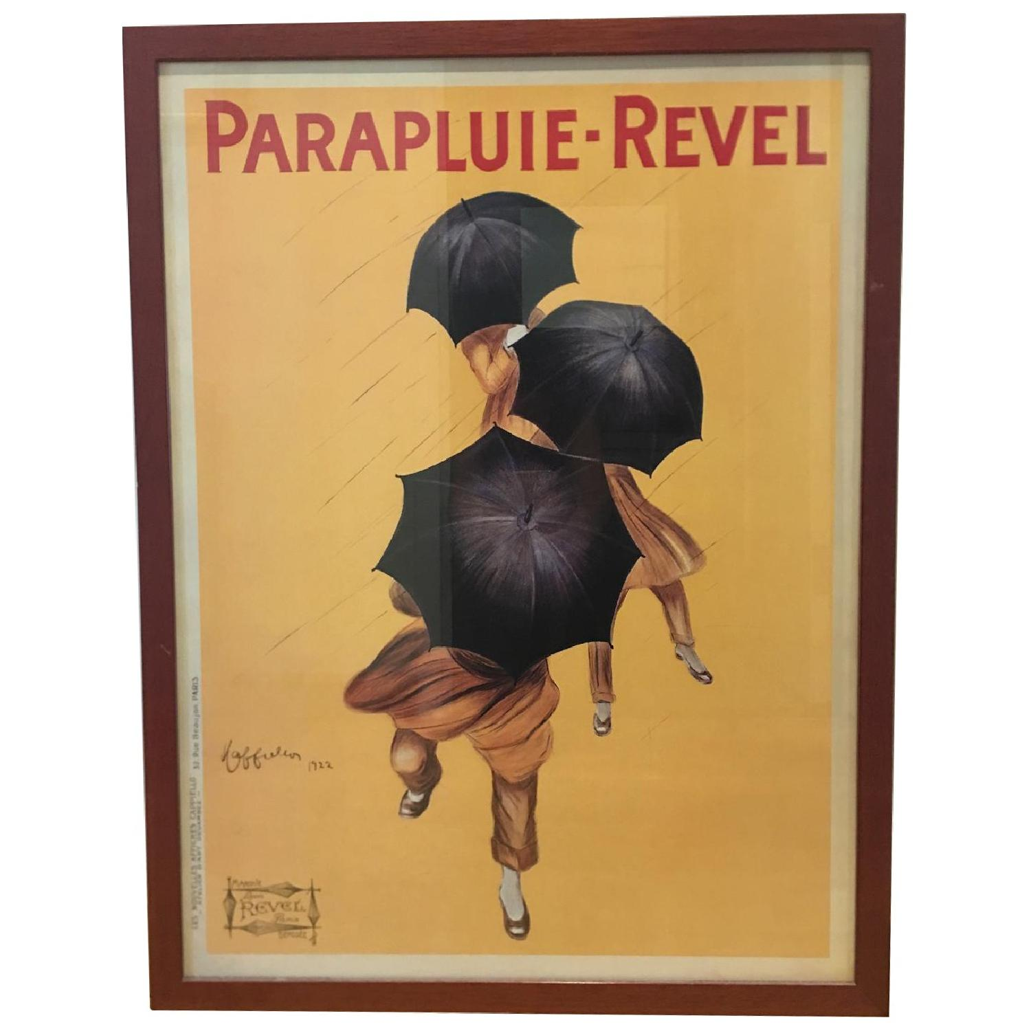 Vintage 1922 by Leonetto Cappiello Framed Parapluie-Revel - image-0
