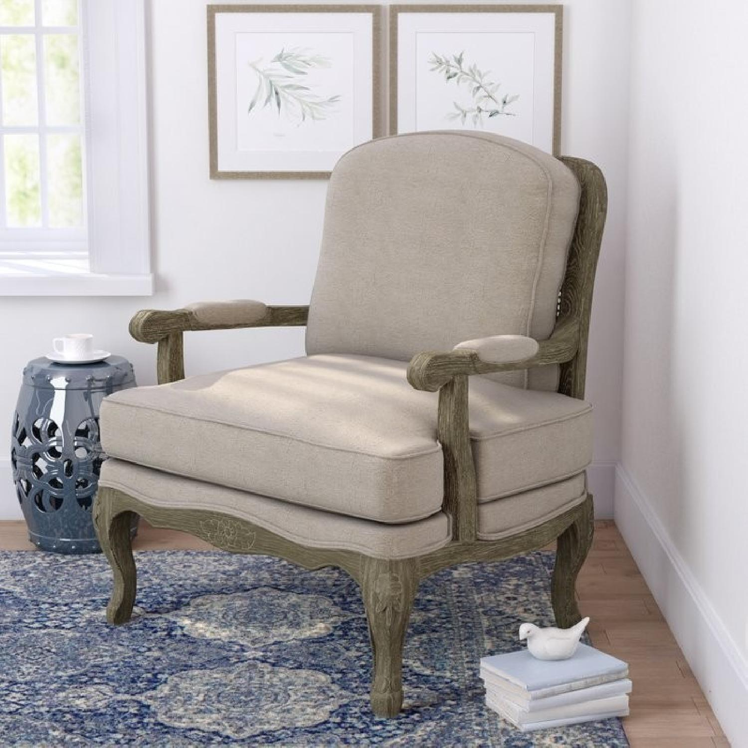 Lark Manor French Armchair & Ottoman - image-1