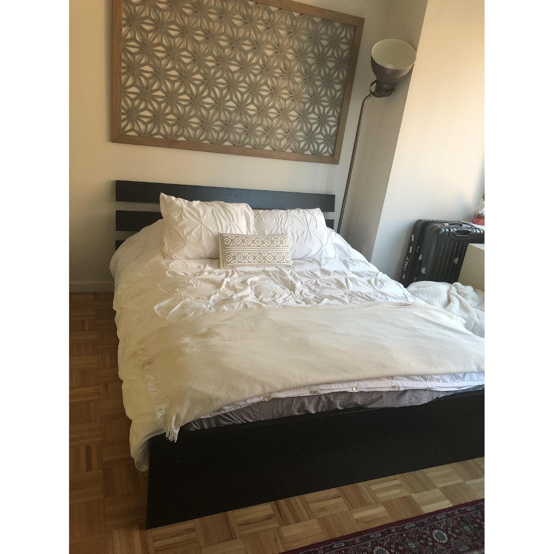 Ikea Hopen Queen Size Black Platform Bed - image-1